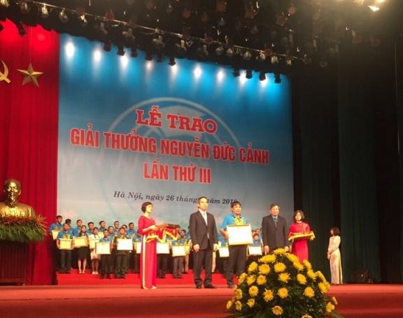 """Người lao động BSR được tôn vinh tại """"Giải thưởng Nguyễn Đức Cảnh"""" 1"""