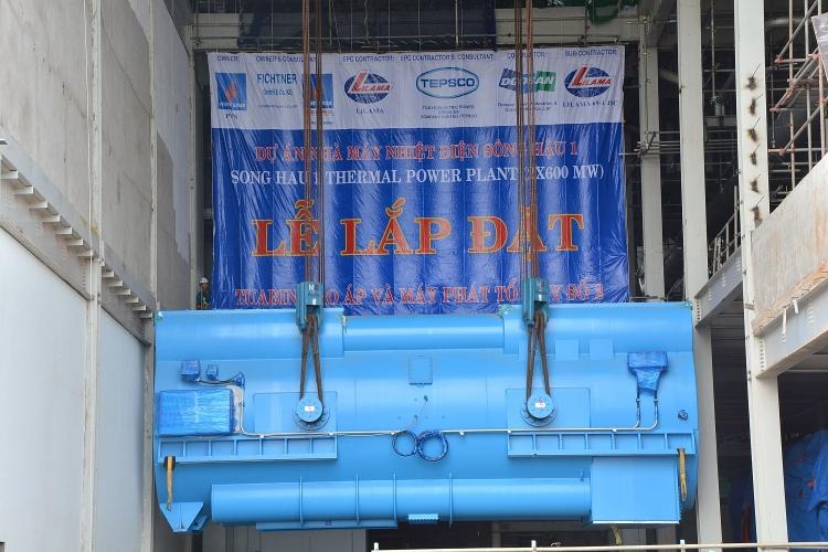 Lắp thành công máy phát tổ máy 2 dự án Nhiệt điện Sông Hậu 1 1