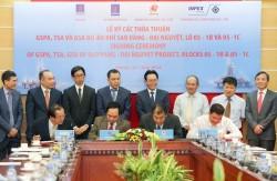 Ký các thỏa thuận dự án khí Sao Vàng - Đại Nguyệt