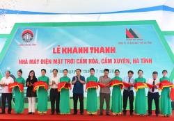 Khánh thành nhà máy điện mặt trời đầu tiên của Hà Tĩnh