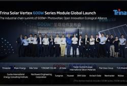 Trina Solar ra mắt pin Vertex 600W và sản xuất số lượng lớn pin 550W