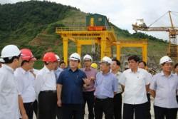 PTT Hoàng Trung Hải kiểm tra dự án thủy điện Lai Châu
