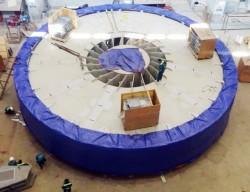 Chuẩn bị hạ rotor tổ máy 3 thủy điện Lai Châu