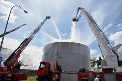 Diễn tập phòng, chữa cháy tại Nhiệt điện Phú Mỹ