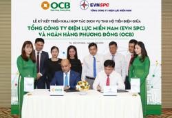 OCB sẽ thu hộ tiền điện tại 21 tỉnh thành phía Nam