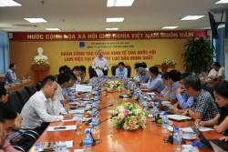 Ủy ban Kinh tế Quốc hội làm việc tại BSR