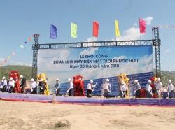 Ninh Thuận đã có nhiều dự án điện mặt trời được khởi công