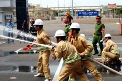 KĐN tổ chức thành công Hội thi an toàn - Phòng cháy chữa cháy