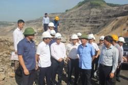Chủ tịch TKV kiểm tra sản xuất tại Công ty CP than Hà Tu