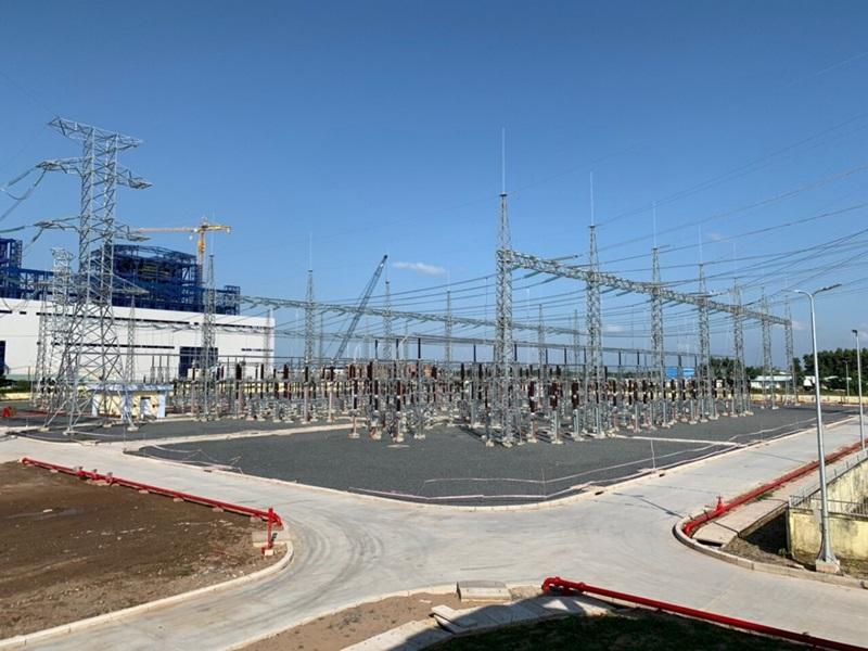 Đóng điện Sân phân phối 220kV Trung tâm Điện lực Long Phú