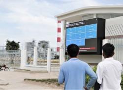 Công ty Nhiệt điện Vĩnh Tân đưa vào sử dụng Bảng điện tử thông số môi trường