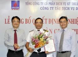 Công bố quyết định bổ nhiệm Giám đốc Công ty Tàu dịch vụ Dầu khí