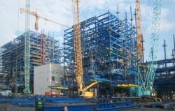 Sắp hoàn thành lắp kết cấu thép lò hơi A2 nhiệt điện Mông Dương 1