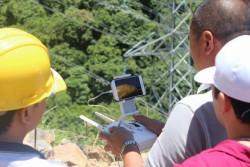 PTC1 ứng dụng flycam vào công tác kiểm tra đường dây