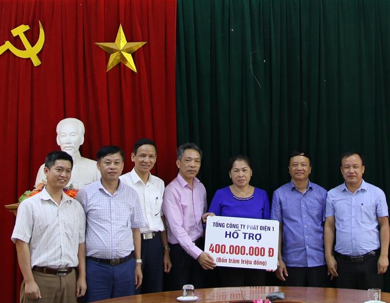 GENCO1 hỗ trợ người dân bị thiệt hại do lũ lụt tại Nghệ An