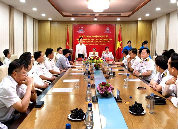 Vietsovpetro ký hợp tác với Tổng công ty Tân cảng Sài Gòn