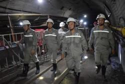 Tiến độ dự án khai thác than hầm lò mỏ Khe Chàm II - IV