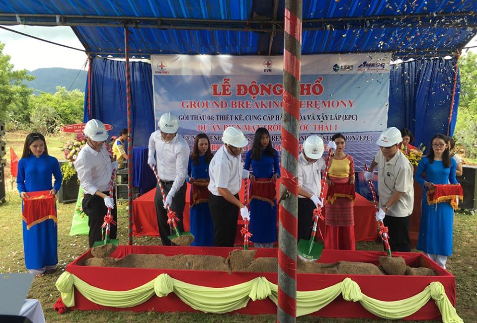 Động thổ xây dựng dự án điện mặt trời Phước Thái 1