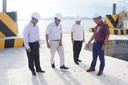 Lãnh đạo EVNSPC thực địa dự án đường dây 220 kV Kiên Bình - Phú Quốc