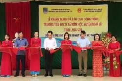 Khánh thành trường tiểu học tại Lạng Sơn do PV Power tài trợ