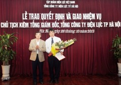 Bổ nhiệm tân Chủ tịch kiêm Tổng giám đốc EVN HANOI