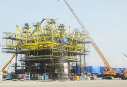Dự án giàn khai thác Thái Bình sẽ hoàn thành tháng 2/2015