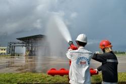 Diễn tập phương án chữa cháy tại Nhà máy lọc dầu Dung Quất
