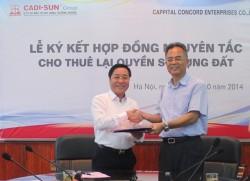 CADI-SUN cho thuê lại đất Cụm Công nghiệp Lương Điền