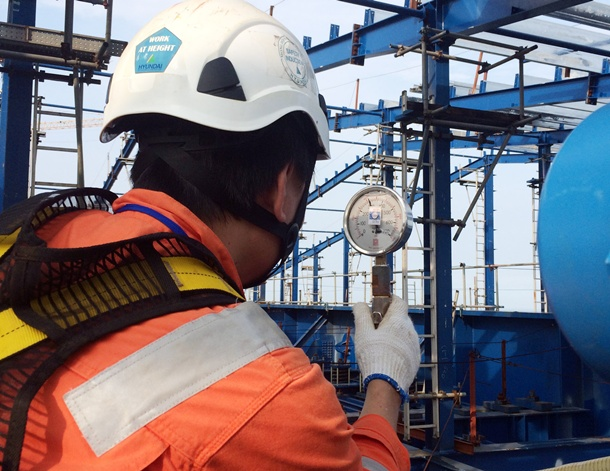 Pressure test of boiler No 2 of Thai Binh 2 Thermal Power Plant has been successful implemented