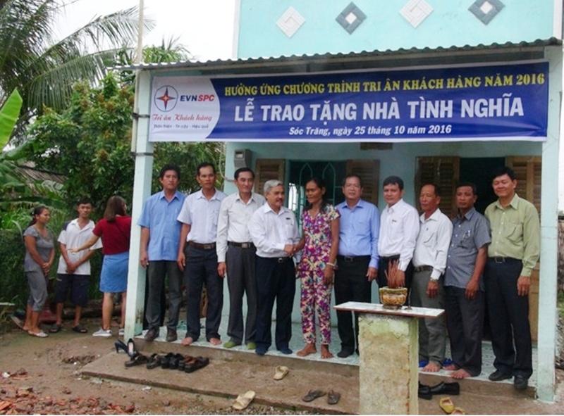 EVN SPC tặng nhà tình nghĩa cho gia đình nghèo ở Sóc Trăng 2