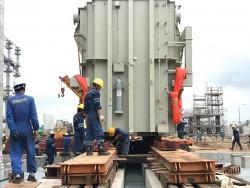 Lắp máy biến áp chính tổ máy 2 Nhiệt điện Sông Hậu 1