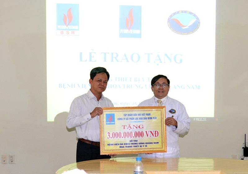BSR tài trợ thiết bị y tế cho Bệnh viện Đa khoa Quảng Nam 1