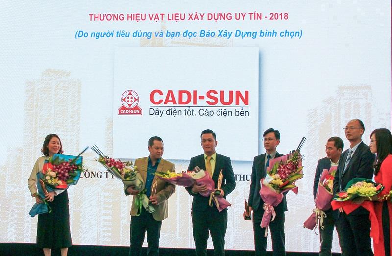 """CADI-SUN trong Top 10 """"Thương hiệu vật liệu xây dựng uy tín"""" 2"""