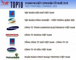 PVN đứng đầu Top 10 doanh nghiệp lợi nhuận tốt nhất 2018