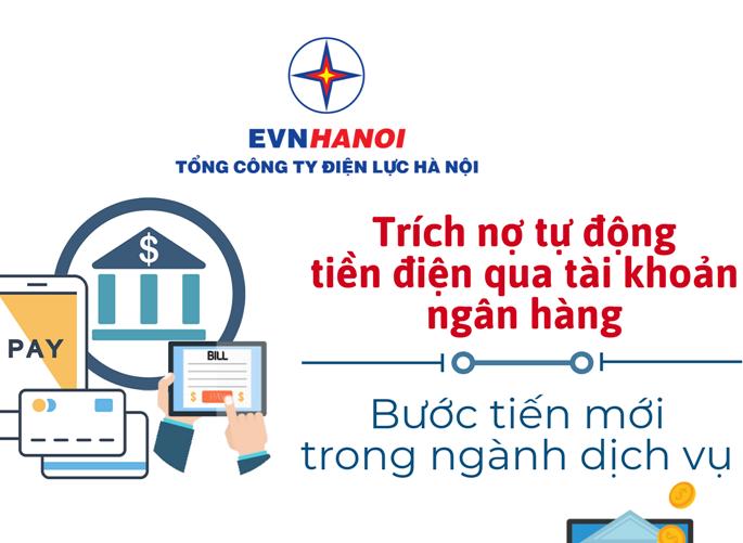 Trích nợ tự động: Bước tiến trong dịch vụ của EVNHANOI