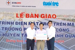 Quảng Nam có thêm 2 trường học dùng điện mặt trời trên mái nhà