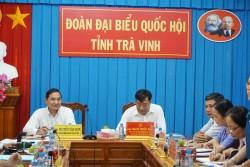 PC Trà Vinh làm việc với đoàn Đại biểu Quốc hội của tỉnh