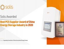 Solis giành giải thưởng 'Nhà cung cấp hệ thống chuyển đổi nguồn điện tốt nhất'