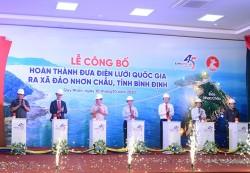 Lễ công bố hoàn thành đưa điện lưới quốc gia ra xã đảo Nhơn Châu