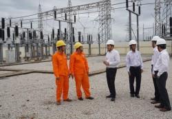 Chủ tịch HĐTV EVNSPC kiểm tra tình hình cung cấp điện tại Ninh Thuận