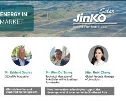 JinkoSolar tổ chức hội thảo trực tuyến về thị trường pin mặt trời ở Đông Nam Á