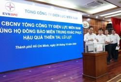 EVNSPC ủng hộ đồng bào miền Trung khắc phục mưa lũ