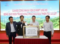 EVNNPT chung tay giúp các tỉnh miền Trung khắc phục mưa lũ