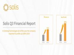 Doanh thu quý 3 của Solis tăng mạnh nhất từ trước đến nay