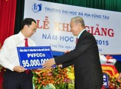 PVFCCo trao học bổng cho Đại học Bà Rịa - Vũng Tàu