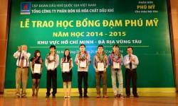 Khởi động chương trình học bổng Đạm Phú Mỹ 2015-2016
