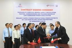 Ký gói thầu chính dự án cấp điện lưới cho đảo Cù Lao Chàm