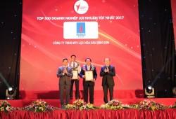 BSR trong top doanh nghiệp lợi nhuận tốt nhất 2017