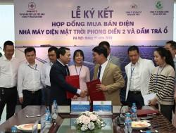 Ký hợp đồng mua bán điện NM điện mặt trời Đầm Trà Ổ