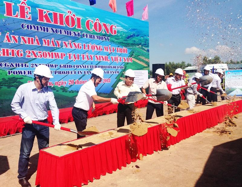 Khởi công dự án điện mặt trời HCG và HTG tại Tây Ninh 1